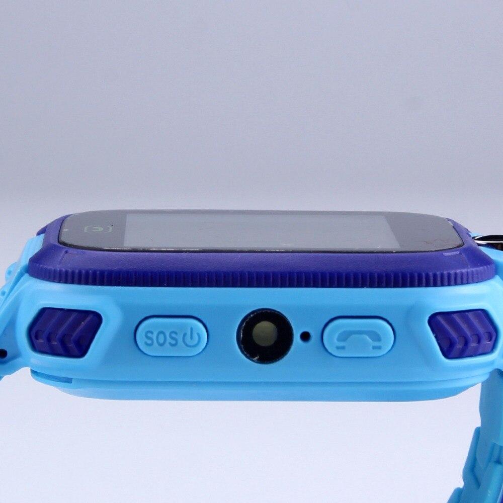 smartwatch blue close up