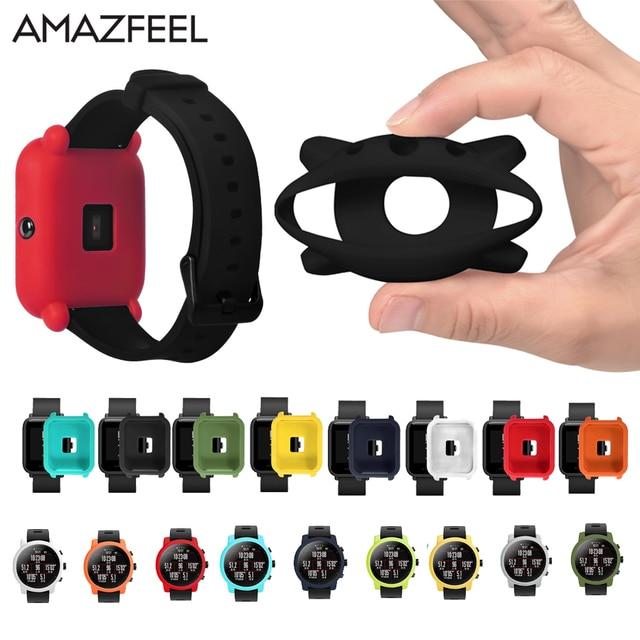 Amazfit Bip Youth Protector Case No cracking Soft silicone case For Xiaomi Huami Amazfit Smart