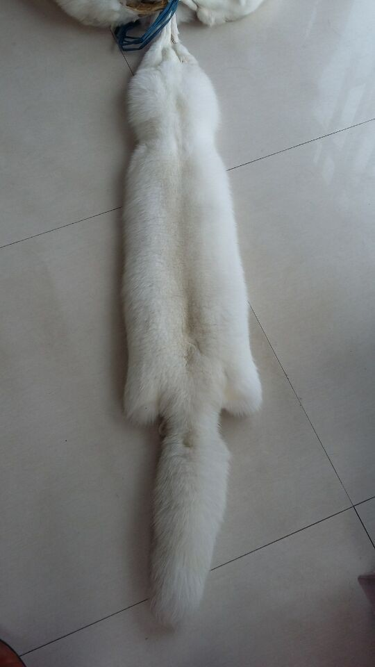 White fox fur pelt large size real fox fur skin (4)