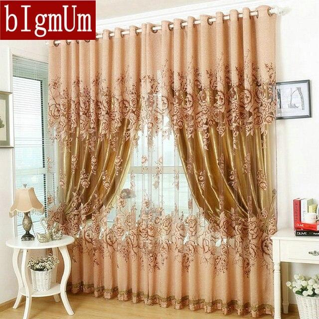 Fenster Vorhang Für Wohnzimmer/Schlafzimmer/Hotel 100% Blackout Fertig  Luxus Vorhänge + Tüll