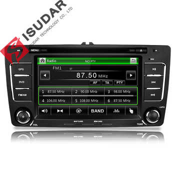Isudar Car Multimedia Player GPS 2 Din For Octavia/SKODA Canbus Bluetooth Ipod Radio RDS WIFI USB SD Steering Wheel Control DVR - DISCOUNT ITEM  20% OFF All Category