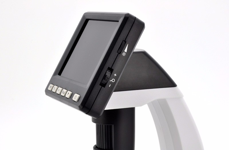 Купить ЖК-Цифровой Микроскоп, Настольный USB HD электронный микроскоп с экраном 3.5 дюйма экран USB/AV Multi 500X дешево