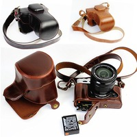 PU Leather Camera Bag For Fujifilm XT10 XT20 XT30 16 50mm 18 55mm lens Camera Case Leather With Strap Open Battery Desigb