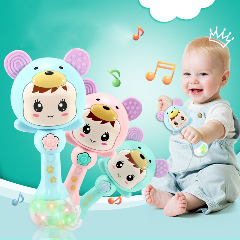 Baby Shaker Sand Hammer Toy Dynamic Rhythm Stick Baby Rattles Kids Musical Party Favor Musical Instrument Toys M