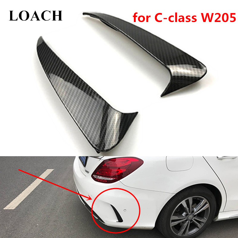 Rear Bumper Decoration Vent Wing Fins for Mercedes-Benz C Class W205 Sedan 4Door Sport C63 C43 AMG Trunk Air Dams Body Kits C180 image