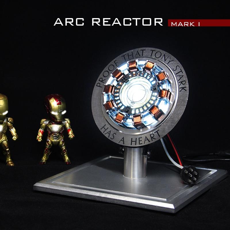 Cool 1 1 scale Iron Man Arc Reactor MK1 MK2 RC LED Light Base is Metal