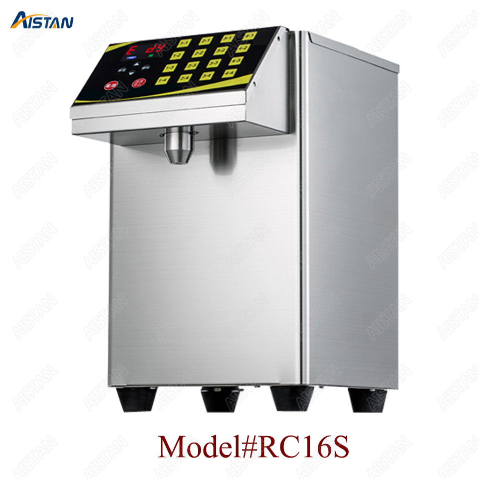 RC16 8L stainless steel commercial fructose quantitation machine for milk tea shop and coffee shop 3