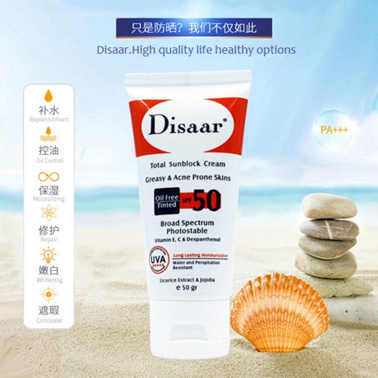 50ml Disaar new door sand sunscreen SPF50 after-Sun repair whitening BB cream moisturizing brighten complexion oil