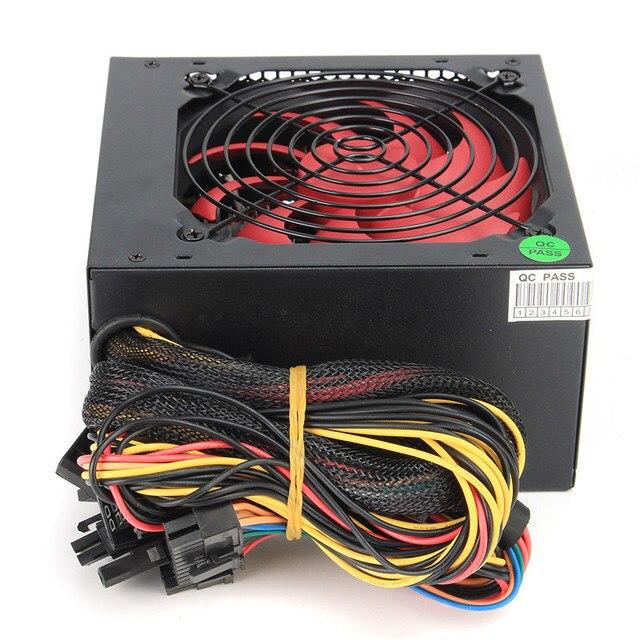 ATX-PC US/AU/EU Plug 80% Efficiency 550W PC BTC Power Supply 550 Watt 24 Pin PCI SATA ATX 12V Molex 2