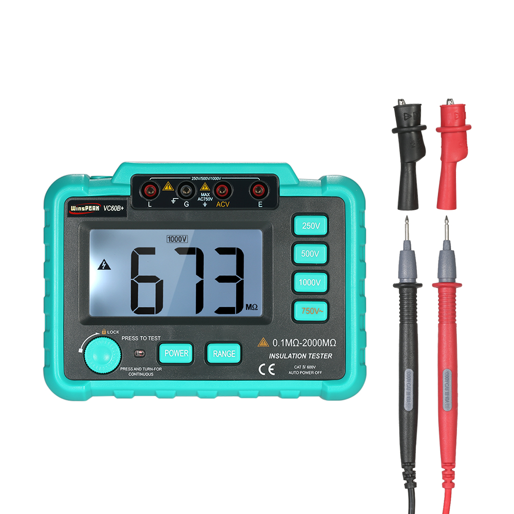 VC60B+ Digital Insulation Resistance Tester Megohm Meter Megohmmeter earth ground resistance impedance tester DC250V/500V/1000V цена