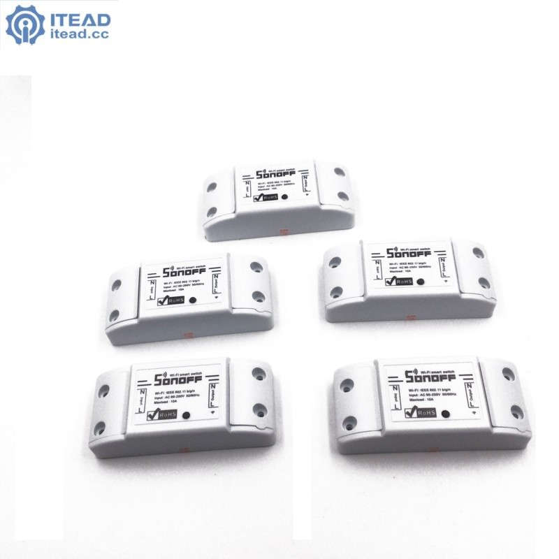 5pcs sonoff dc220v Remote Control Wifi Switch Smart s