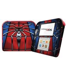 Capa protetora de vinil para nintendo 2ds, adesivo de película do homem aranha