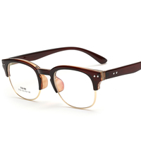 Laura Fairy Classic Design Club Style Spectacle Glasses Frame For Men Women TR90 And Metal Patchwork
