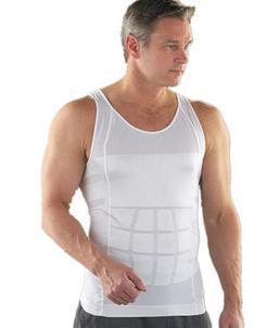 Hombres Adelgaza Faja chaleco, cintura y abdomen ropa interior de Compresión Menos beer belly Faja Tummy Talladora de La Cintura Camisa de La Tapa