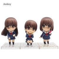3pcs/set Saenai Heroine No Sodate Kata. Flat Kato Megumi PVC Figure Collectible Toy 10cm KT4133