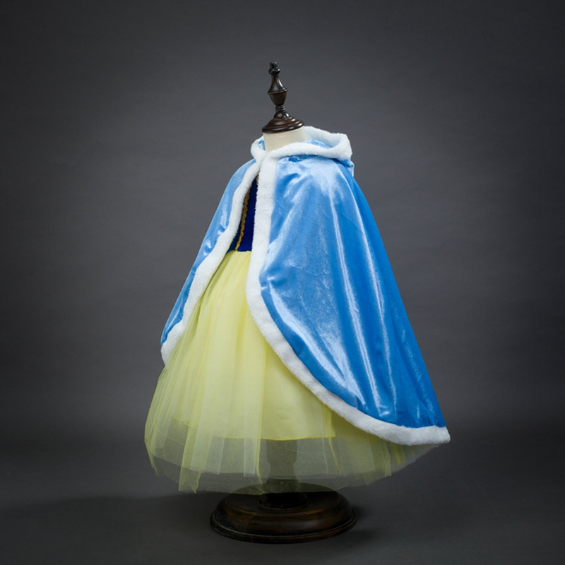 carnaval cosplay costume princess cloak anna cape elsa shawl girls cloak stage performence role acting