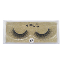 SHIDISHANGPIN  1 pairs false eyelashes natural long mink lashes hand made 3D makeup box