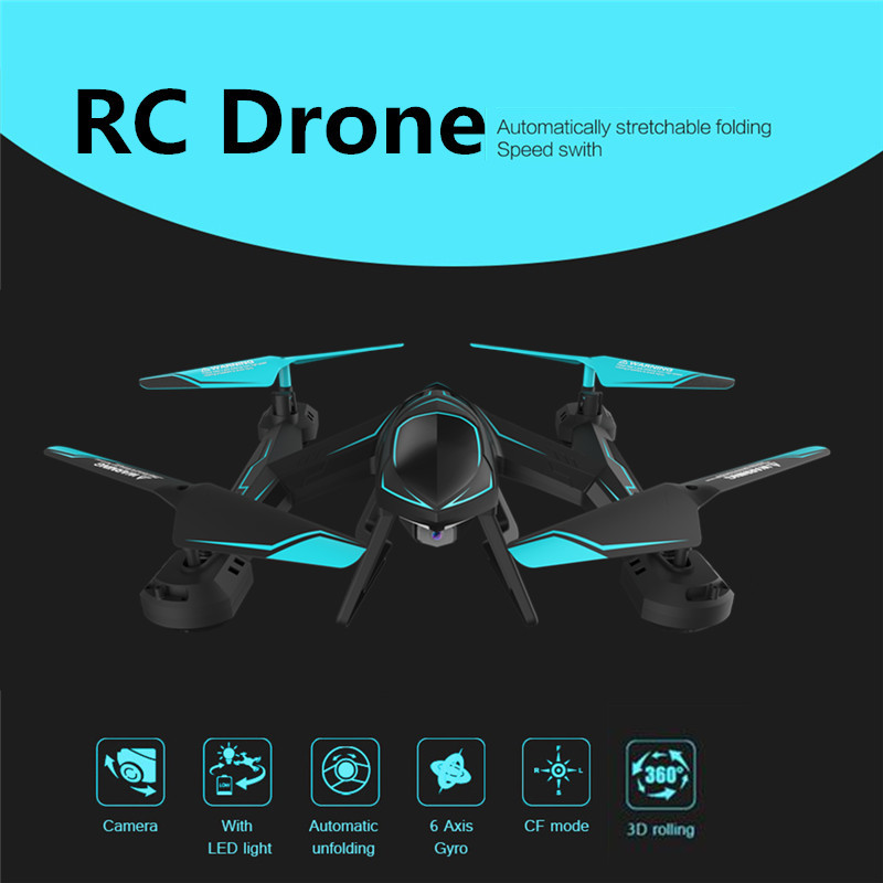 RC Drone with Camera 2.0MP FPV Camera RC Quadcopter Dron 2.4GHz 4CH 6-Axis Drones with Camera HD RC Helicopter Toys VS XS809W rc drone u818a updated version dron jjrc u819a remote control helicopter quadcopter 6 axis gyro wifi fpv hd camera vs x400 x5sw