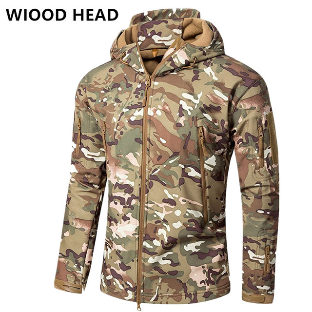 84823d4d309df Lurker Shark Skin Softshell V4 Military Tactical Jacket Men Waterproof  Windproof Warm Coat Camouflage Hooded Camo Army Clothing