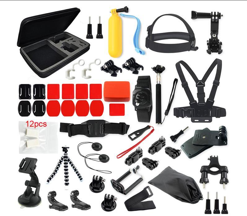 Prix pour Sport caméra Gopro accessoires pour SJCAM SJ5000 M10 M20 SJ4000 action camera gopro hero4 3 2 camera action xiaoyi