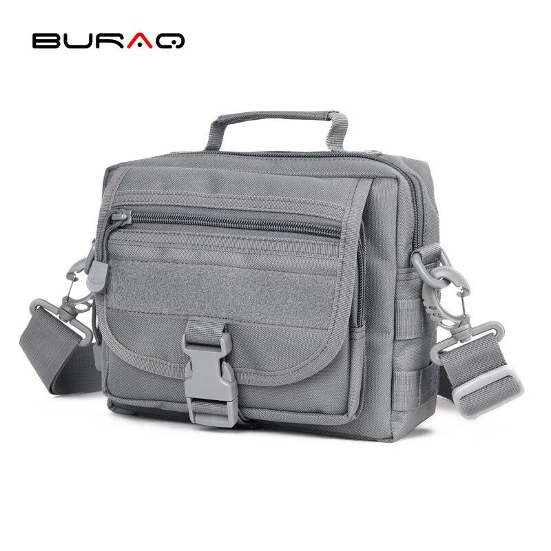 Camping & Hiking Burraq Camouflage Nylon Waterproof Shoulder Bag Cross Body Belt Sling Messenger Bag Tactical Military Camouflage Handbag