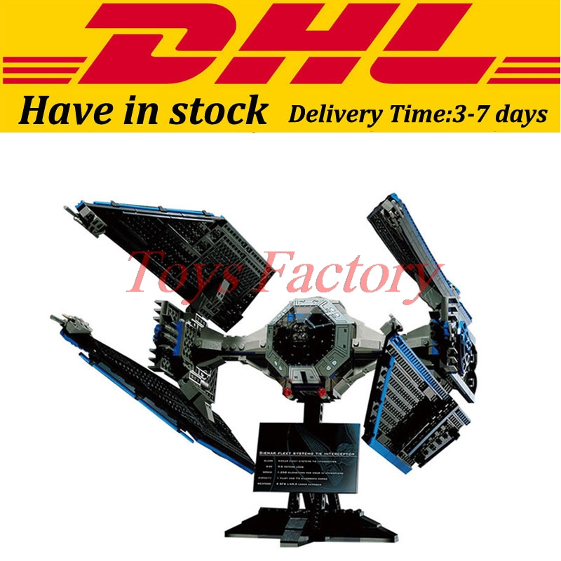 EN Stock LEPIN 05044 703 Unids Star Wars UCS TIE Interceptor Modelo Kit de Const