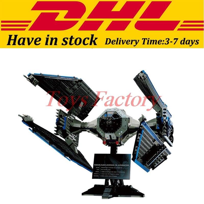 EN Stock LEPIN 05044 703 Unids Star Wars UCS TIE Interceptor Modelo Kit de Const