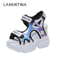 2019 Summer Women's Sandals High Heels Sandals For Women 11CM Heels Gladiator Sandal Wedge Platform Shoes Summer Casual Sneakers