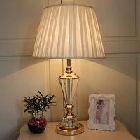 Прикроватные светильники модные Чтение стол Lights украшение дома освещение лампы светодиодные книги кристалл настольная лампа Мода светиль