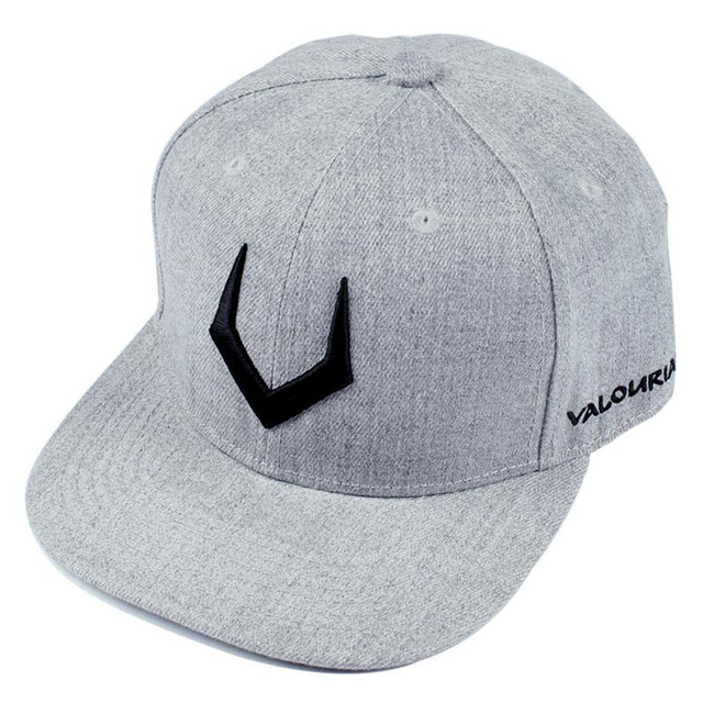 De alta calidad de lana gris snapback 3D perforado bordado hip hop cap factura  plana gorra 131be1fa1f2