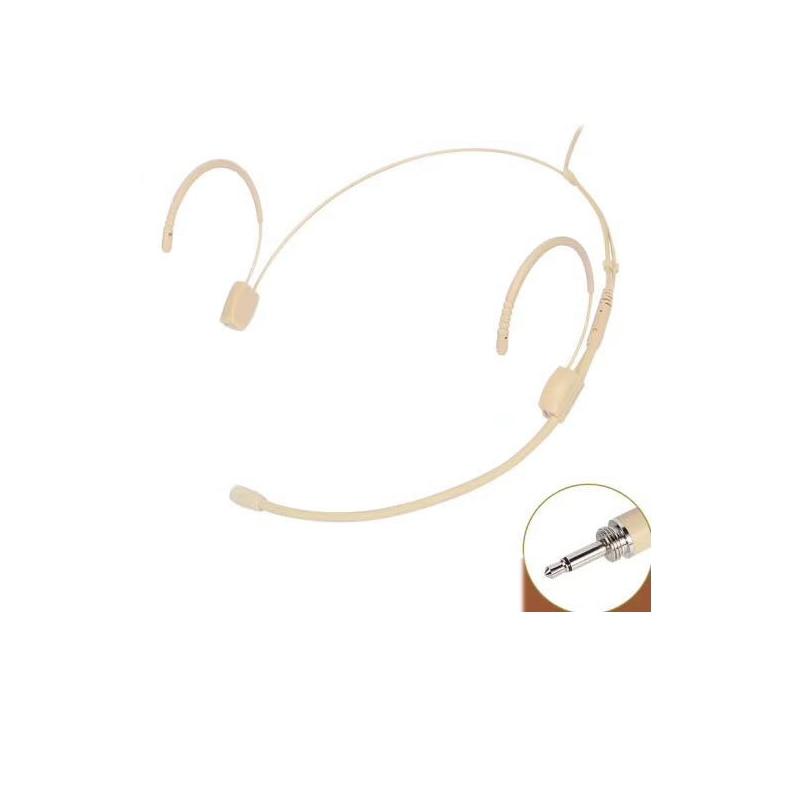 Wireless Microphone Invisible Beige for Shure Sennheiser AKG Audio Technica Samson 3.5mm Jack Lock MiCWL