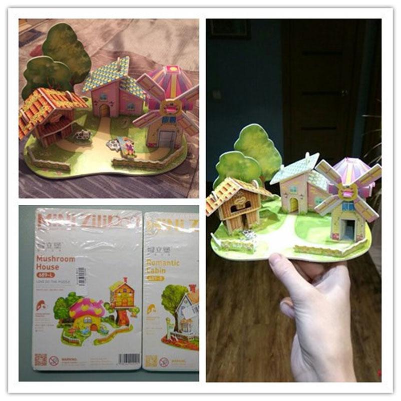 Children Brinquedo Educativo Houses Puzzle 1