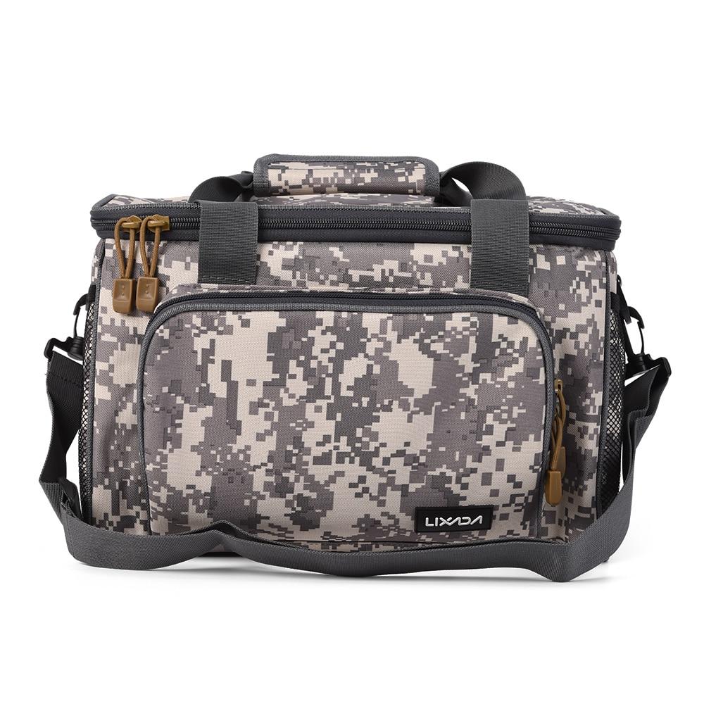 Image 5 - Lixada Fishing Bag Portable Multifunction Canvas Fishing Lure Reel Shoulder Waist Backpack Bag for Carp Pesca 37 * 25 * 25cmfishing bagfishing lure bagfishing reel bag -