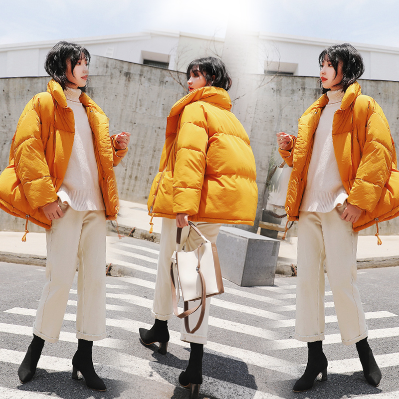 Brieuces 2020 Jacket Women Winter Fashion Warm Thick Solid Short Style Cotton padded   Parkas   Coat Stand Collar size S-XXL