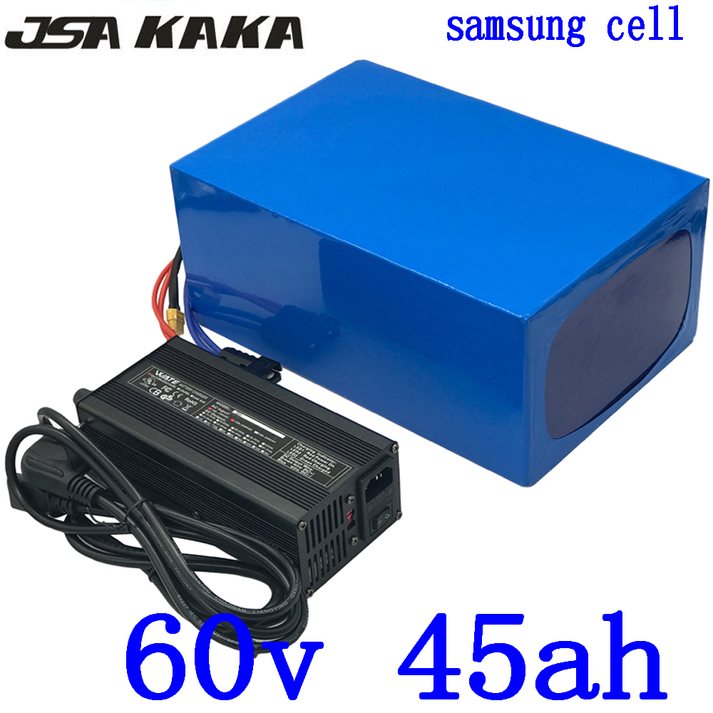 <font><b>60V</b></font> 45AH Electric Bike Battery <font><b>60V</b></font> 45AH 40AH Lithium Ebike Battery Pack use <font><b>samsung</b></font> cell <font><b>60V</b></font> 2000W 3000W Electric Scoote Battery image