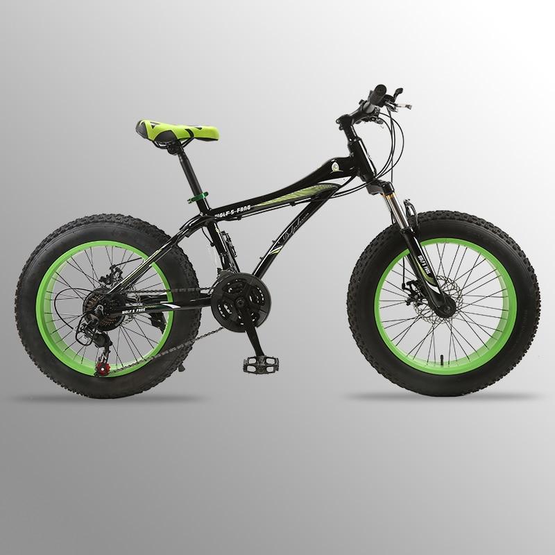 Vélo vtt 21 vitesse 2.0 X 4.0 vélo Route vélo graisse vélo Avant et Arrière À Disque Mécanique de frein Femmes et enfants Spr