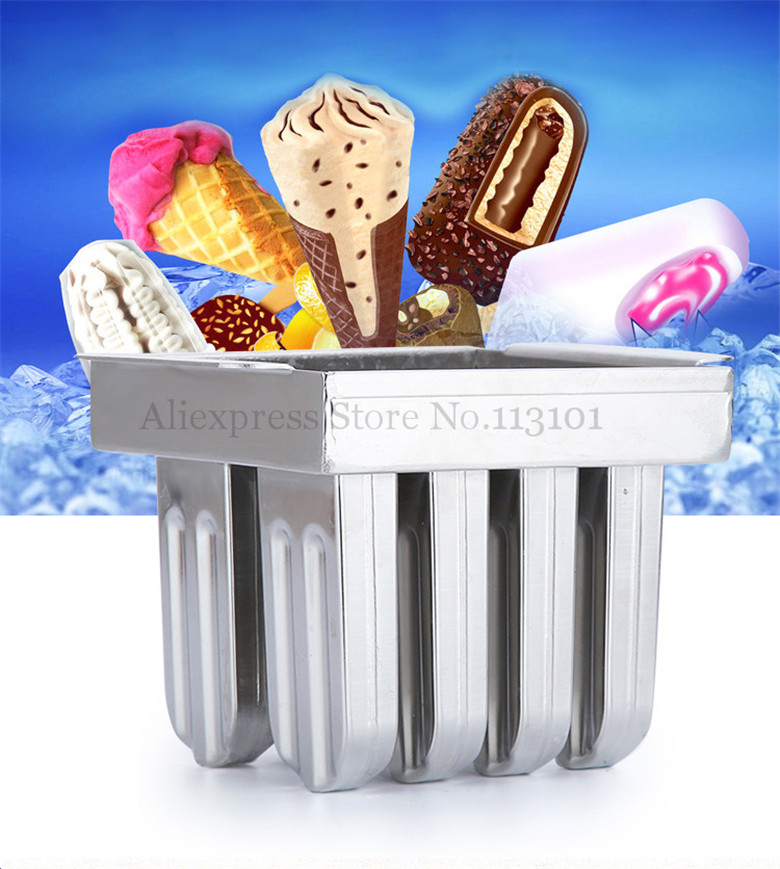 Ice Pop Mold Popsicle Mould 8pcs/Batch Ice-lolly Maker Durabe Stainless Steel DIY Food Tool commercial & household