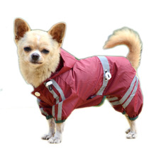 SYDZSW Reflective Single Layer Dog Raincoat For Small To Medium Dogs