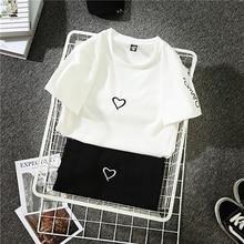 2018 Fashion Harajuku T Shirt Women Letter Printed Hip Hop T Shirt Cotton O Neck Short Sleeve Korean Style Tops Tee NEZ0005