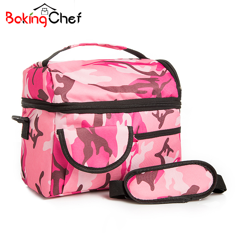 BAKINGCHEF Home Food Beverage Storage Oxford Sports Leisure Insulated Picnic Outdoor Lunch Dinner bag Cooler Ice Camping pack
