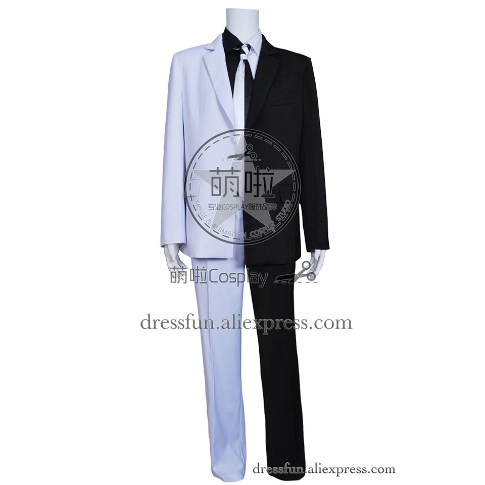 Batman Cosplay Two Face Man Costume Black And White Suit Full Set Outfits Party Fashion Fast Shipping Halloween