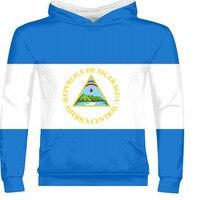 NICARAGUA male free custom name number zipper sweatshirt nation flag republic spanish nicaraguan college print photo clothes
