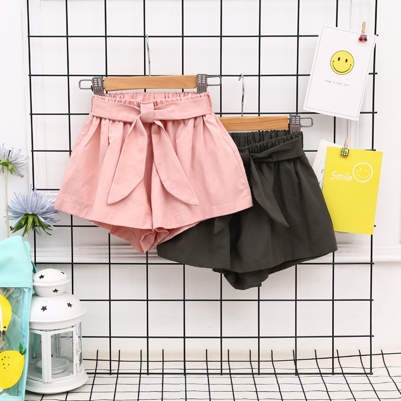 Summer Girls Shorts Children Short Pants Casual Kids Shorts Solid Color Bowknot Shorts Fashion Girls ClothingSummer Girls Shorts Children Short Pants Casual Kids Shorts Solid Color Bowknot Shorts Fashion Girls Clothing