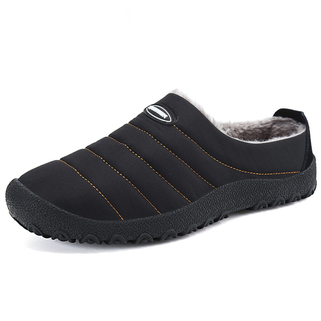 Christmas Winter Men Shoes Warm Plush Home Slippers Men Flip Flops Non slip Indoor Slippers Unisex Home Shoes zapatos de hombre