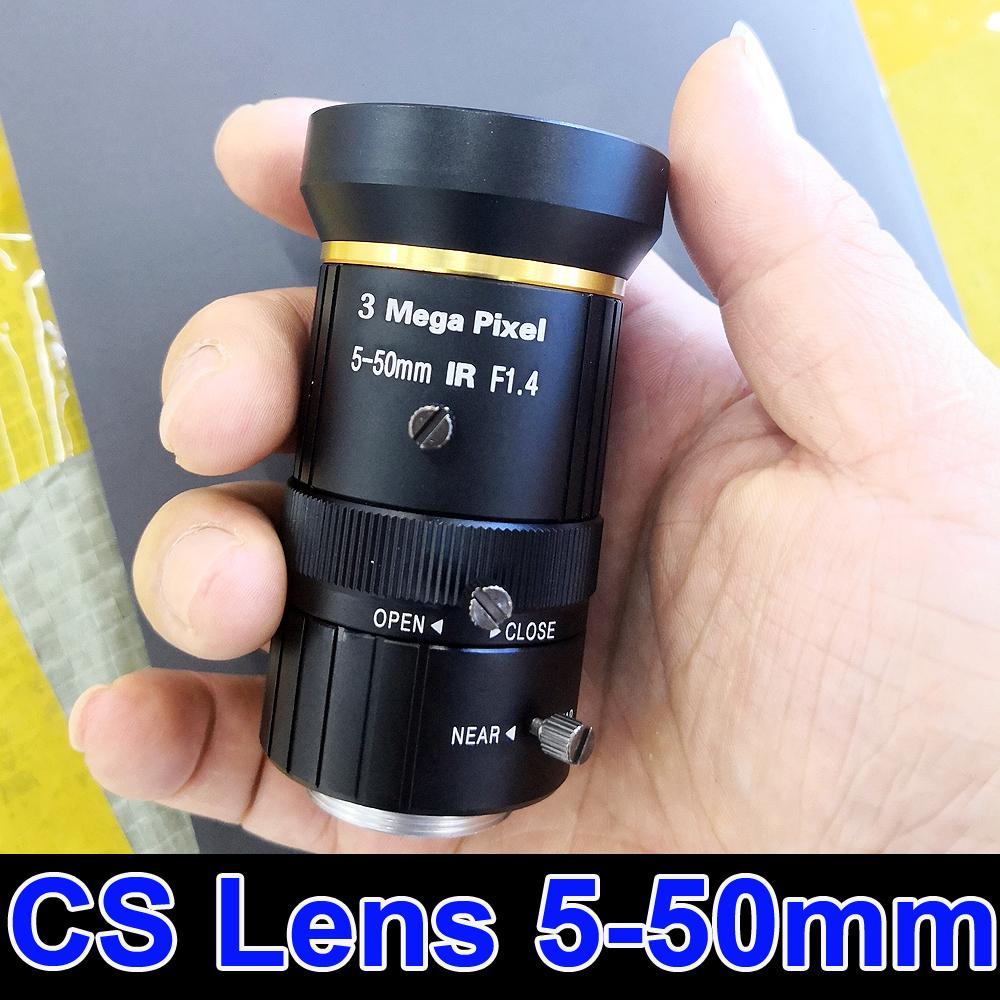 3MP CS Camera Lens 5-50mm manual Varifocal CCTV Lens for IP Camera AHD camera