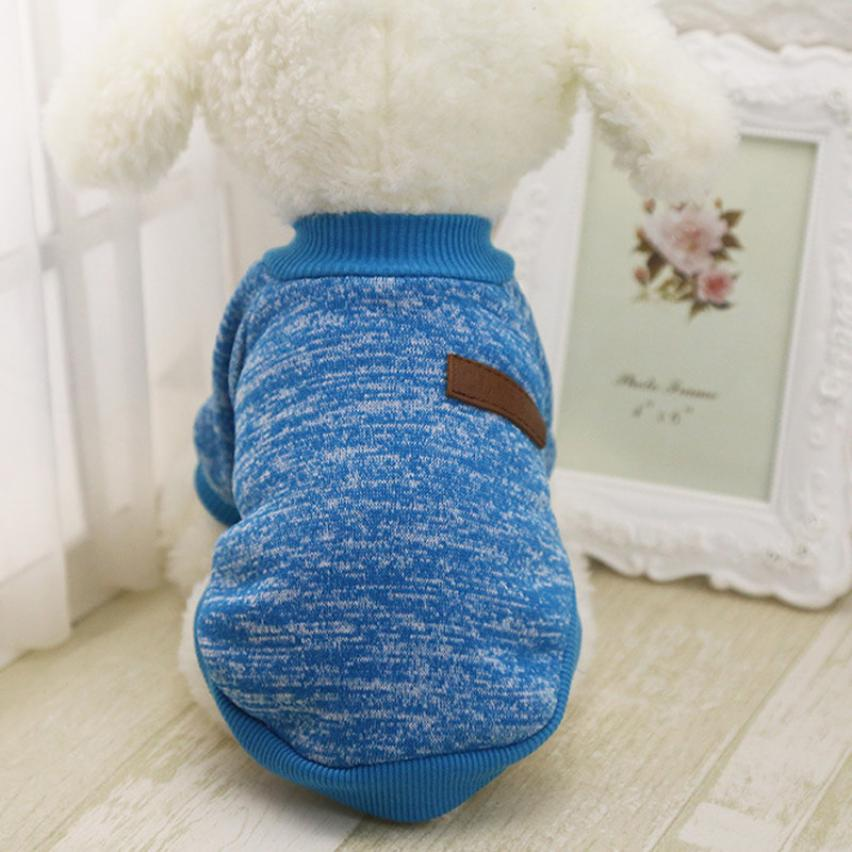 Classic Winter Warm Dog Clothes Puppy Pet Cat Jacket Coat Fashion Soft Sweater Clothing For Chihuahua Yorkie 8 Colors S-XL HBT