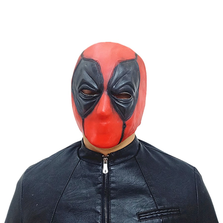 Deadpool Mask Cosplay Halloween Masks Full Head Face Soft Silicone Cosplay Costume Props Movie Masque Party Masks Adult