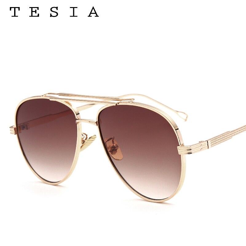 TESIA Pilot Solglasögon Män Brand Designer Reflekterande Mirrored - Kläder tillbehör - Foto 2