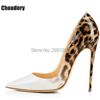 Top Quality Leopard Gradual Change Color Women Pumps Pointed Toe Stiletto High Heels 2017 New Fashion