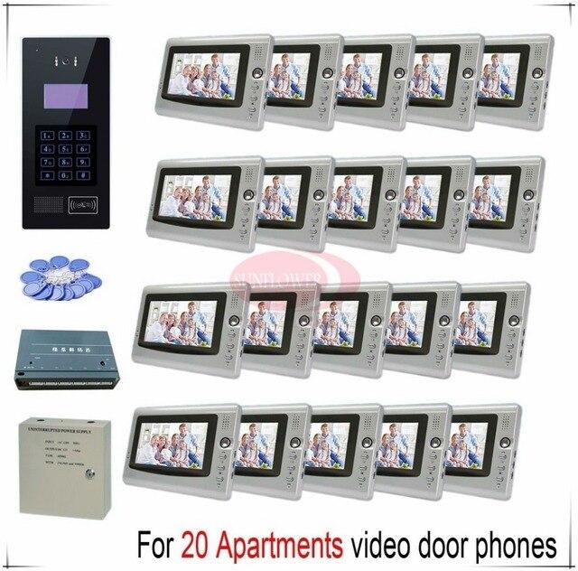 How To Unlock Bedroom Door | Touch Room Number For 20 Apartments Video Door Phones Intercom